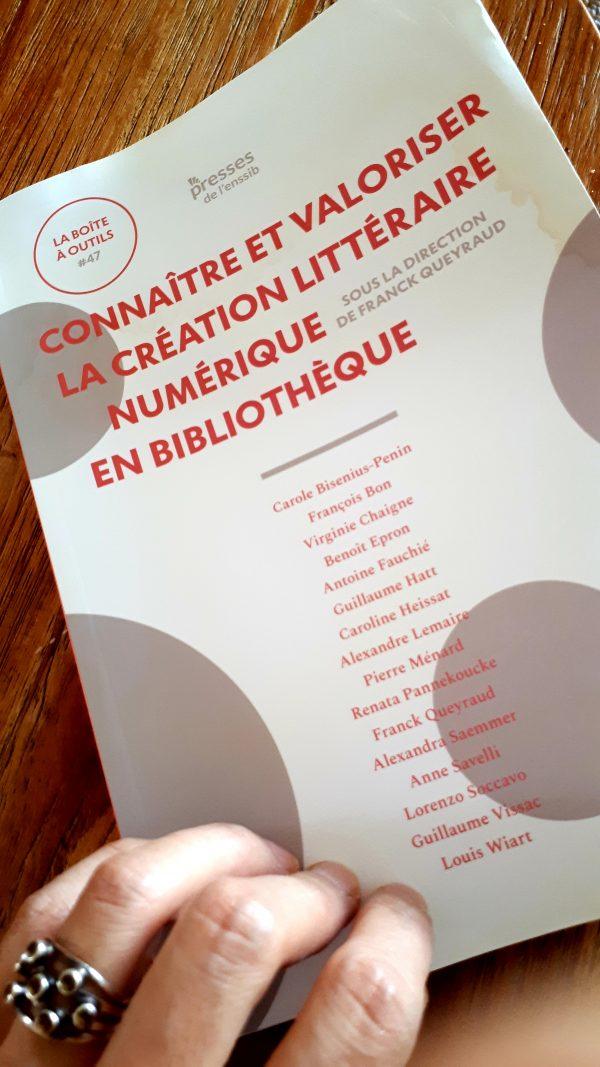 Connaître et valoriser la création littéraire numérique en bibliothèque, sous la direction de Franck Queyraud